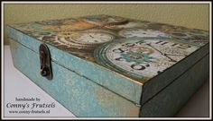 Theedoos met rijstpapier / teabox decoupage ricepaper