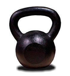 New MTN Black Painted Solid Cast Iron 5 Lbs Kettlebells Weight Dumbbells