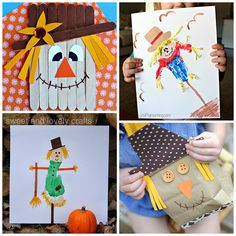 Here are 12 adorable scarecrow crafts for kids to make this fall! Find paper bags, popsicle sticks, and more art projects!