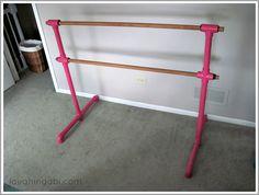 DIY Portable Ballet Barre | laughingabi.com