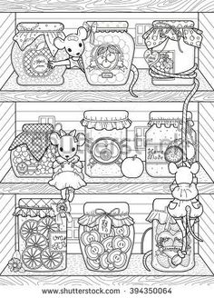Adorable Mice With Diverse Jam Jars
