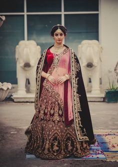 Bridal Lehengas - Marsala Wedding Lehenga   WedMeGood   Marsla Velvet Fully Embroidered Lehenga with Double Dupatta, Net and Velvet  Outfit by: Dalmia Fashions by Aditya and Mohit #wedmegood #indianbride #indianwedding #lehenga #bridal #marsala #velvet #dalmiafashions