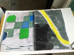 ArtBookinprogress  Mixed media on printed paper