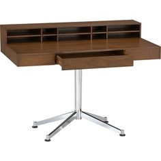 It's just a little big for my SF apartment!   Crane Desk in Desks | Crate and Barrel