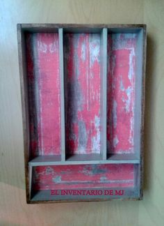 Cubertería, cucharero,caja de madera, decoupage, elinventariodemj.blogsot.com