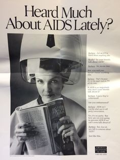 AIDS awareness poster from the America Responds to AIDS campaign of the CDC - 1990