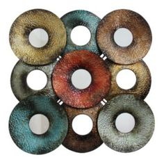 Metal Circle Wall Decor fetco aisha wall decor - kohls | for the home | pinterest | more