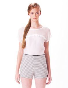 Cecily Top in Ivory + Susan Short #spring2014 #leona