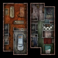 Two-storey, two-bedroom derelict row house. x grid @ Two-Storey Row House