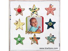 kiwi lane by erin colby . . . love the decorated stars!