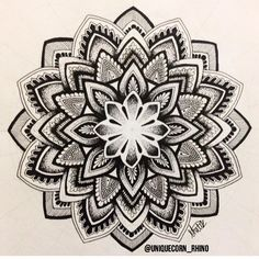 Detailed 9 hour piece Art | mandala | pattern | tattoo | pen | design