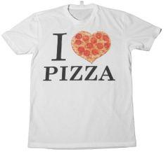 T-Shirts.com I Love Pizza T-Shirt White