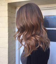 Empress Hair Brisbane - Monique - Balayage Brunette Medium Curls