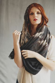 Wandering Willows Scarf on the beautiful Aneta. $52 on www.mooreaseal.com
