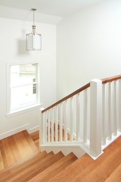 Painted Stair Rail Design Simple wood
