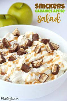Snickers Caramel Apple Salad - Bitz & Giggles
