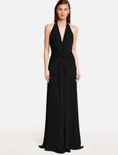 Halston Heritage SATIN HALTER GOWN Front, This is the one I picked.