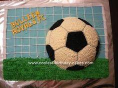 Soccer cake idea