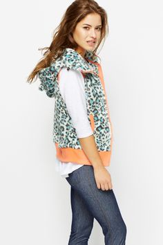Fleece Leopard Print Gilet for £5 @ Everything5pounds.com
