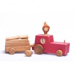 Tractor cu Remorcă Wooden Toys, Tractors, Car, Wooden Toy Plans, Wood Toys, Automobile, Woodworking Toys, Vehicles, Cars