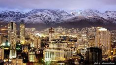 What a beautiful view of Elahiyeh locale at night . . Location: Tehran city - #IRAN