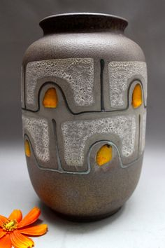 Carstens Vase  West Germany Retro Mid century Fat Lava on Etsy, $26.95