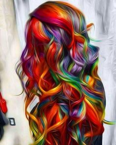 Beliebt Frisuren 50 Stunningly Styled Unicorn Hair Coloration Concepts To Stand Out From The Crowd # Pelo Multicolor, Unicorn Hair Color, Coloured Hair, Bright Colored Hair, Mermaid Hair, Dream Hair, Crazy Hair, Cool Hair Color, Vivid Hair Color
