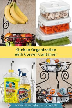 Organize your kitchen with some of these wonderful products from Clever Container!