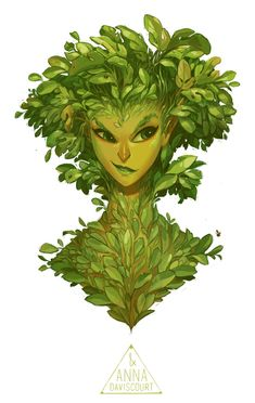 Forest Nymph Bust by Anna Daviscourt Forest Creatures, Fantasy Creatures, Mythical Creatures, Character Concept, Character Art, Concept Art, Dnd Characters, Fantasy Characters, Fantasy Kunst