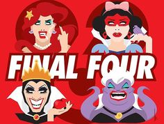 Adore Delano, Bianca Del Rio, Courtney Act and Darienne Lake: the final four at Rupaul's Drag Race Season 6