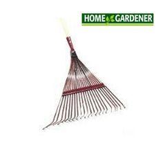 Home Gardener 22 Tines Spring Braced Fan Rake, with Handle Yard Maintenance, Home Hardware, Braces, Garden Tools, Outdoor Living, Handle, Fan, Spring, Outdoor Life