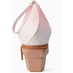 Kate Spade Flavor Of The Month Ice Cream Wristlet featuring polyvore, women's fashion, bags, handbags, clutches, kate spade clutches, kate spade wristlet, pink purse, wristlet purse and kate spade purses