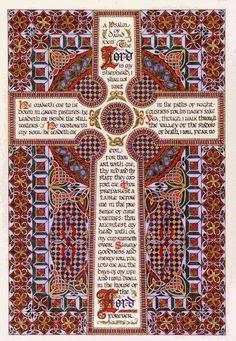 Psalm 23 | Celtic Cross #CelticChristianSpirituality #CelticChristian #CelticSpirituality #CelticPrayer #CelticChurch #Anglican #Christian #church #ChurchOfEngland #Christianity #mass #AnglicanChurch  #CelticPrayers #prayer #pray #Jesus #Christ #JesusChrist #God #ChristJesus #quote #christianquotes #christianquote #believe #believer #faith #spirituality #spirit #celtic