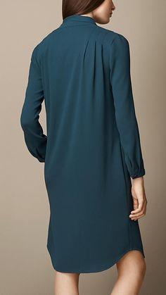 Tie-Detail Crepe Dress | Burberry