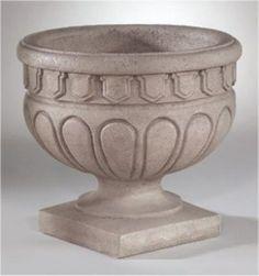 "Hellenic Roman Urn 18"" High Richly Sculpted"