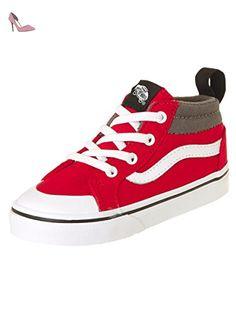 Vans Sk8-Hi Slim, Sneakers Hautes Mixte Adulte, Gris (Castlerock/Blanc de Blanc), 35 EU (3 UK)