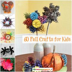Pinecones, acorns, leaves, oh my! Don't miss our collection of 60 Fall Crafts for Kids! | AllFreeKidsCrafts.com