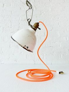 Vintage light with neon cord.