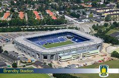 Brøndby Stadion in Kopenhagen, Denmark. This Stadium is home to Bröndby IF.