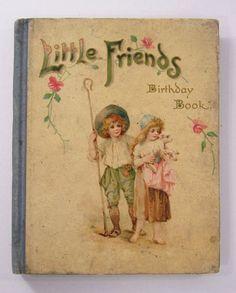 Raphael Tuck - LITTLE FRIENDS Calendar Birthday Book - -FRANCES BRUNDAGE 1909