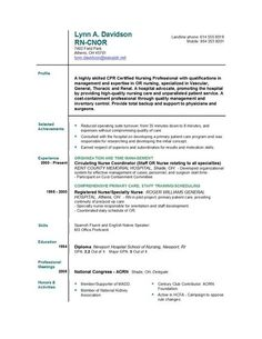 new registered nurse resume examples