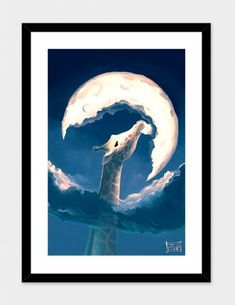 """La Fable de la Girafe"" - Art Print by Cyril Rolando - $39"