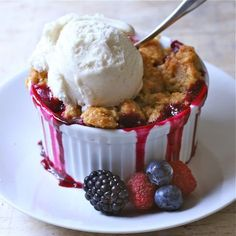 Triple Berry Crumbles