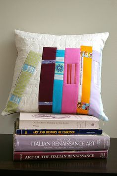 Library Pillow by During Quiet Time (Amy), via Flickr