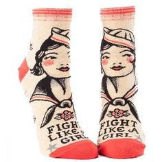 Unique Socks, Cool Socks, Awesome Socks, Awesome Stuff, Fun Stuff, Blue Q Socks, Shopping Queen, Girl Power Tattoo, Tennis Socks