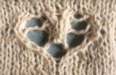 Serendipity heart : a free knitting stitch motif