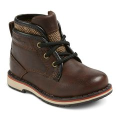 Eddie Bauer Toddler Boys' Sweater Trim Casual Boot Booties - Brown 6, Toddler Boy's