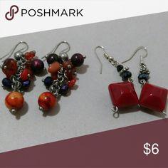 Set of 2 earrings Warm colors and unused Jewelry Earrings