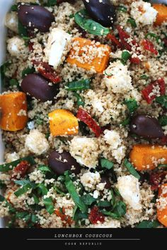"They call it ""lunchbox cous cous"" but this would make a great, filling vegetarian main dish for meatless mondays"