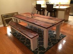 Custom Farm House Style Table With Reclaimed Barn Wood Top on Etsy, $750.00